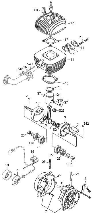 sito3-vintage engines yamaha yz250 wiring diagram yamaha kt100 wiring diagram